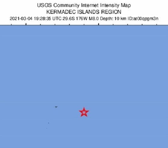 Dos terremotos de magnitud 6,1 y 6,2 sacuden las islas Kermadec de Nueva Zelanda