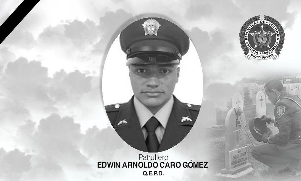 El presidente Duque extiende condolencias por el asesinato del Patrullero Edwin Caro