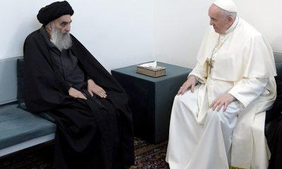 El papa selló una reunión histórica con Al Sistani