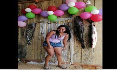 ¡Muy original! Con tres pescados de 40 libras decoraron fiesta de cumpleaños