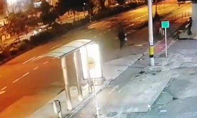 Video: Irresponsable! En Guayabal un sujeto atropelló a un peatón y lo mató, metros atrás había chocado a otro transeúnte