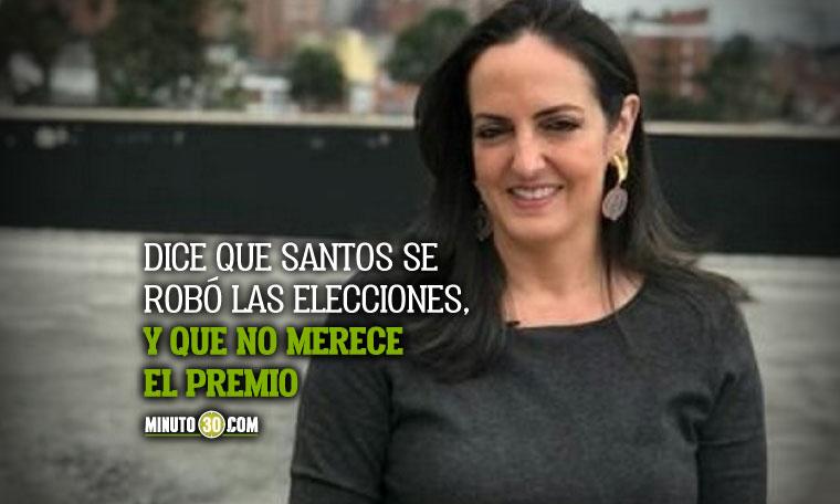Maria Fernanda Cabal inicio propuesta al comite noruego para quitarle el Nobel de Paz a Juan Manuel Santos