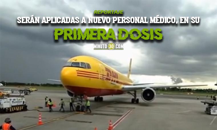 Medellin a la espera de nuevas dosis de Pfizer de las que llegaron al pais por el