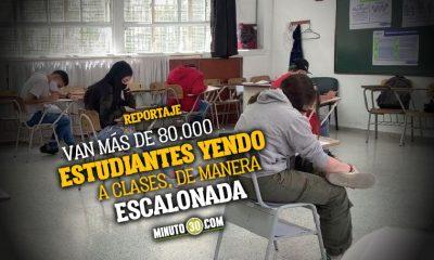 Medellin es pionera en el modelo de alternancia y casi el 70 de los colegios ya tienen alumnos presenciales