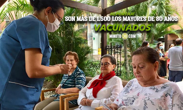 Medellin espera terminar vacunacion en hogares geriatricos este lunes para comenzar con los demas adultos mayores