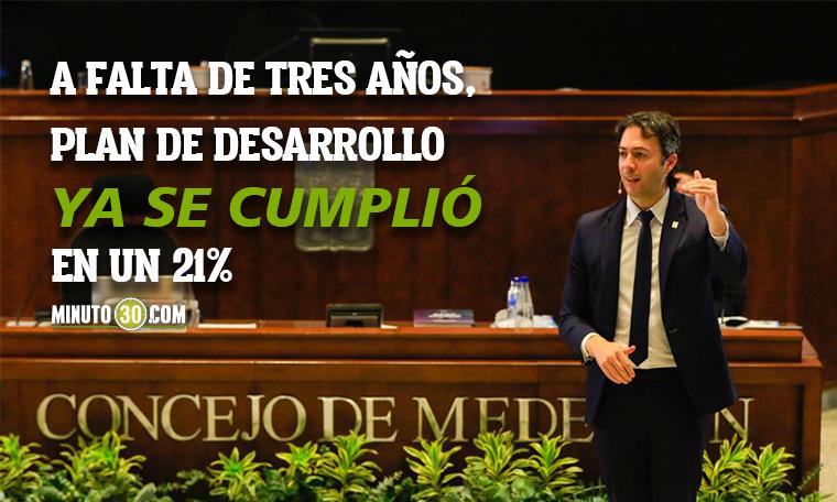 Medellin esta recuperando el rumbo Daniel Quintero le rindio cuentas al Concejo