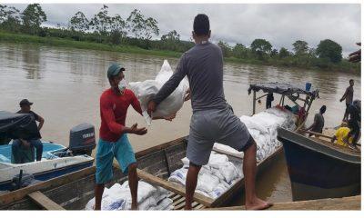 Les llevaron más de 25 mil toneladas de alimento a indígenas desplazados en Murindó