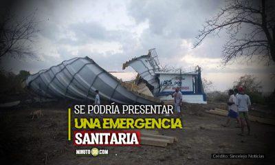Necesitan ayuda tanque de acueducto en zona indigena de Sampues colapso y estan sin agua
