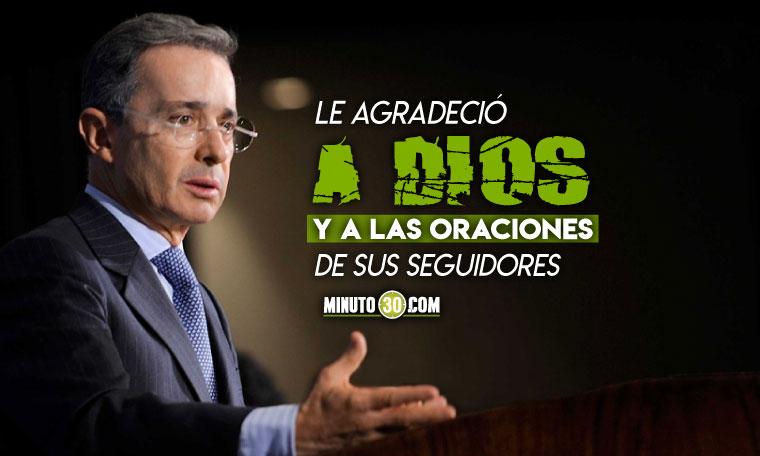 Uribe y el mensaje que dejo luego de que la Fiscalia pidiera desechar el caso en su contra