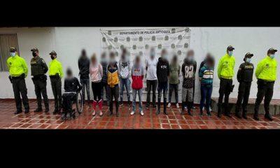 ras doce meses de investigación la Policía capturó a 14 presuntos integrantes del Clan del Golfo en Antioquia