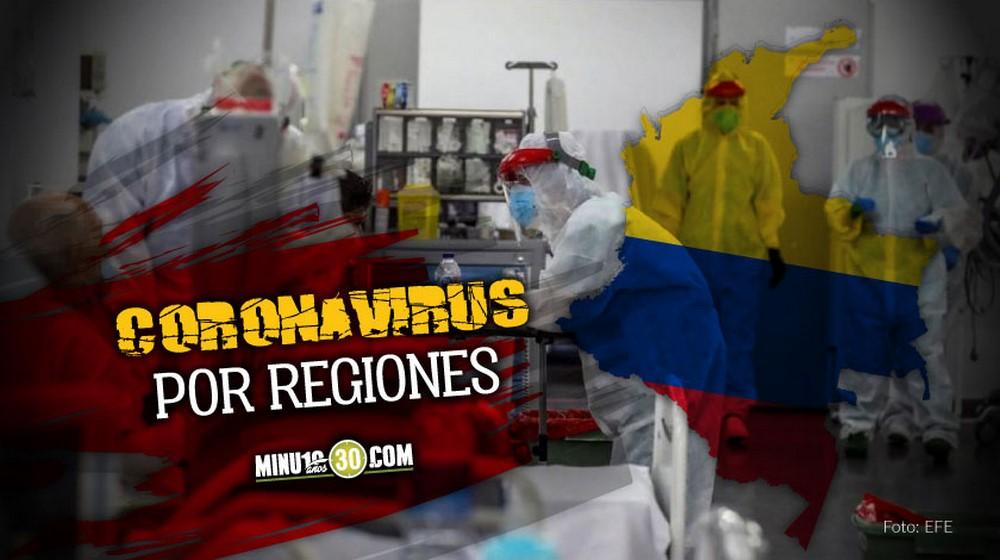 coronavirus por regiones
