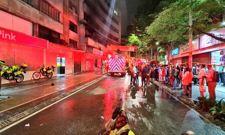 Video: Bomberos de Medellín controlaron un incendio en el centro de la ciudad