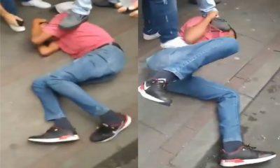 """""""Tremenda muenda"""" le dieron a presunto ladrón en el centro de Medellín"""