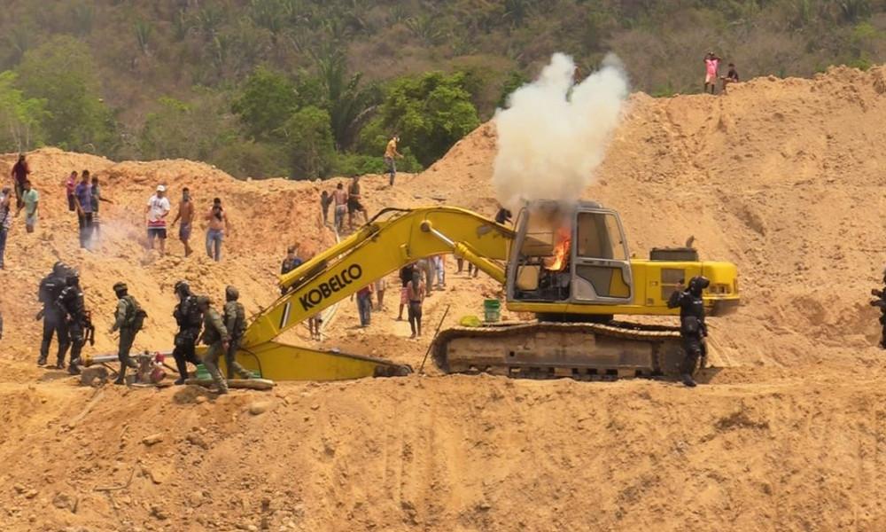 En Antioquia fue destruido un gigantesco frente de extracción ilícita de oro