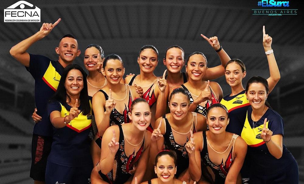 Equipo de natación artística de Colombia se coronó campeón sudamericano tras 3 décadas