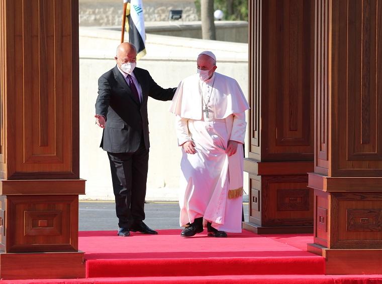 El papa pidió desde Irak compromiso para llevar la paz a todo Oriente Medio