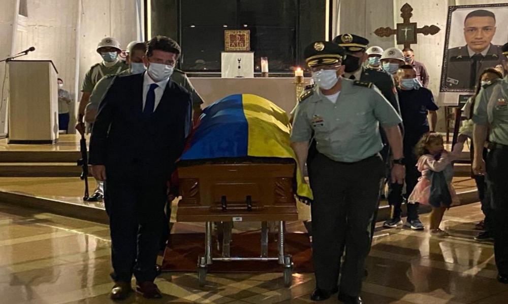 Video: Así fueron las exequias del patrullero antioqueño asesinado en Bogotá