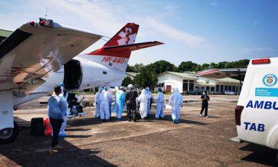 Fuerza Aérea Colombiana trasladó a paciente de 61 años en grave estado por Covid