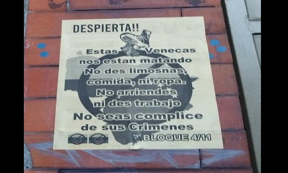 """""""Estas ratas 'venecas'"""", Preocupación por cartel en contra de venezolanos que circula en un sector de Bogotá"""