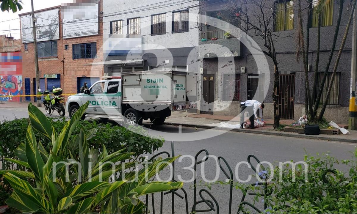 Fotos y video: En el barrio Antioquia fue asesinado otro habitante de Calle