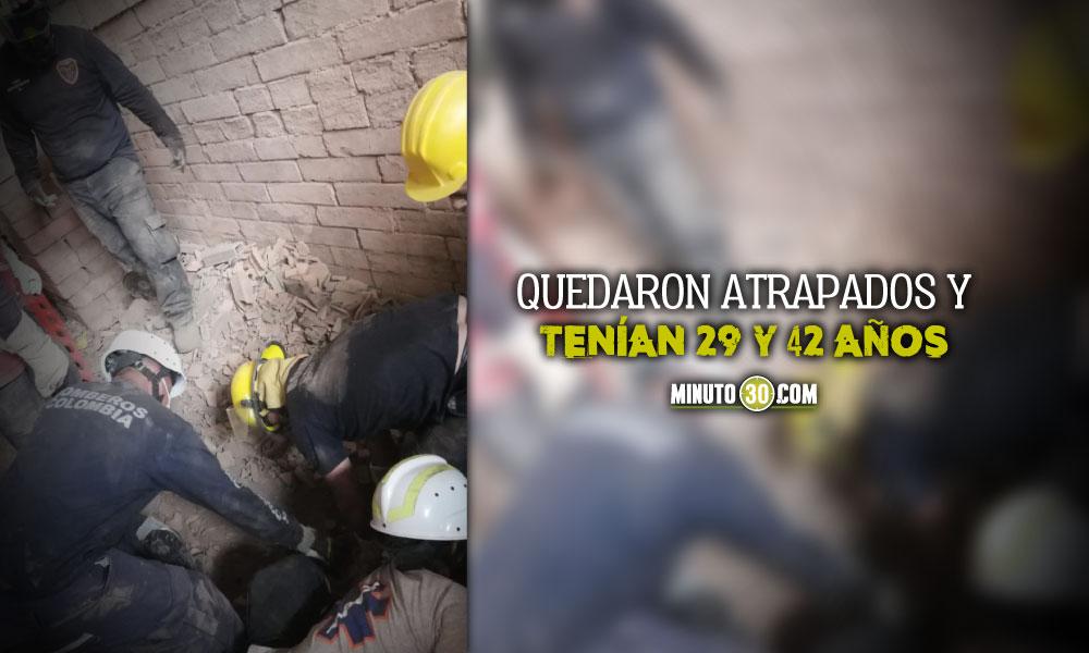 Dos obreros murieron tras derrumbe de ladrillera en Fredonia