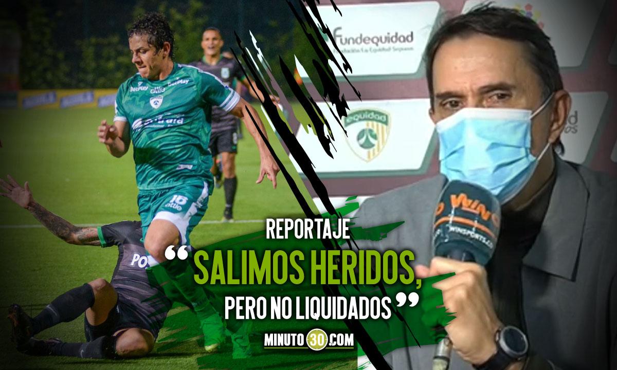 Alexandre Guimaraes no quedo preocupado por la derrota de Nacional con La Equidad
