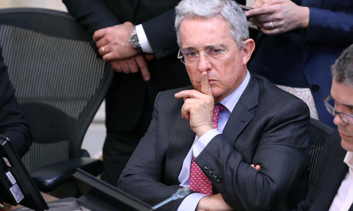 En la imagen, el expresidente colombiano Álvaro Uribe, líder del Centro Democrático. EFE/Mauricio Dueñas Castañeda/Archivo