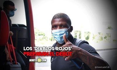 America llego a Bucaramanga para afrontar partido de Copa Libertadores