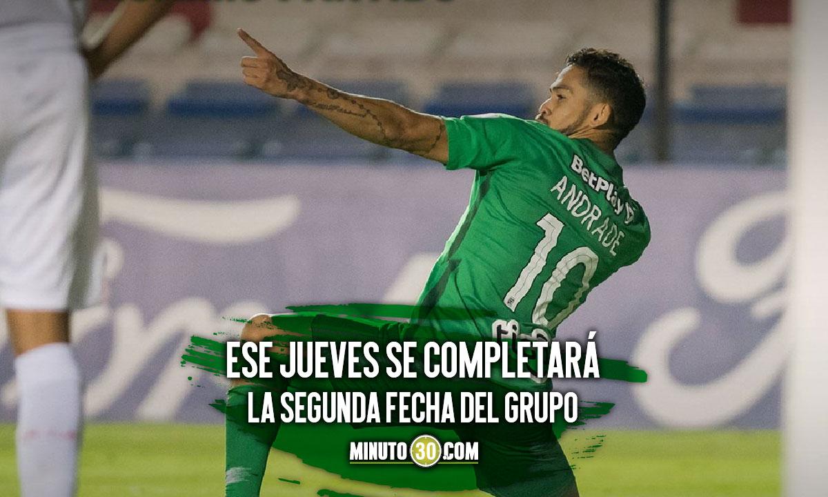 Asi esta la tabla de posiciones del Grupo F de la Copa Libertadores