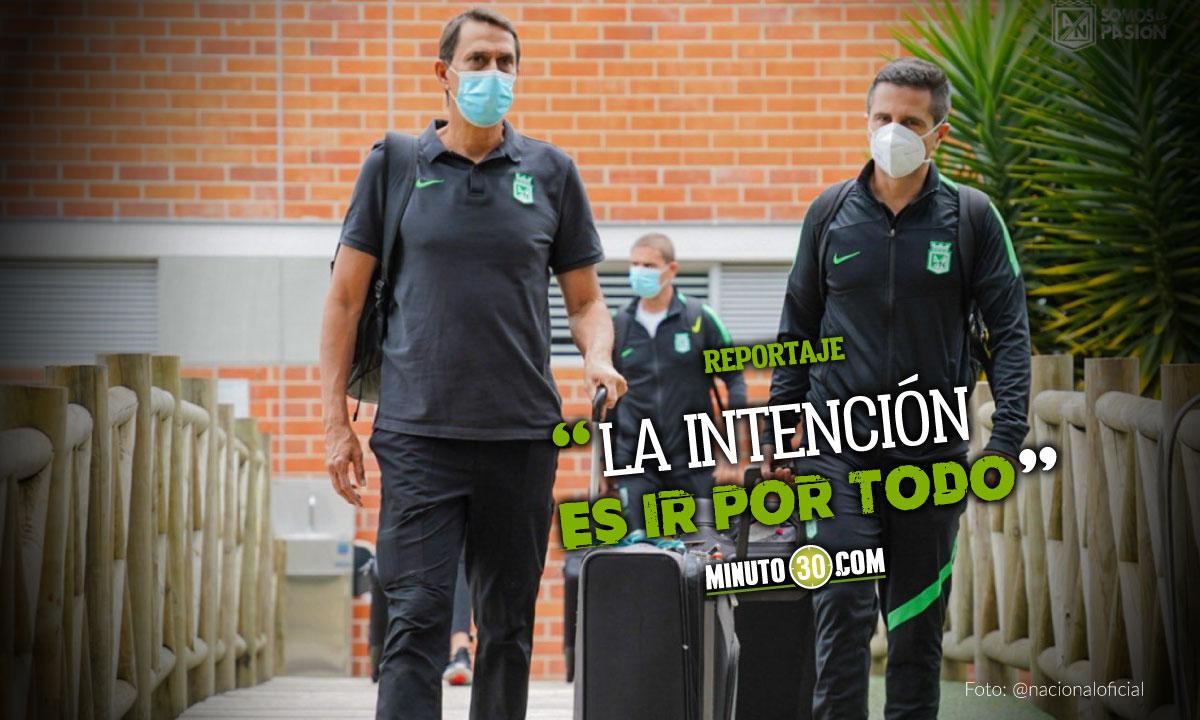 AtlEtico Nacional quiere pelear el titulo tanto en la Liga como en la Libertadores