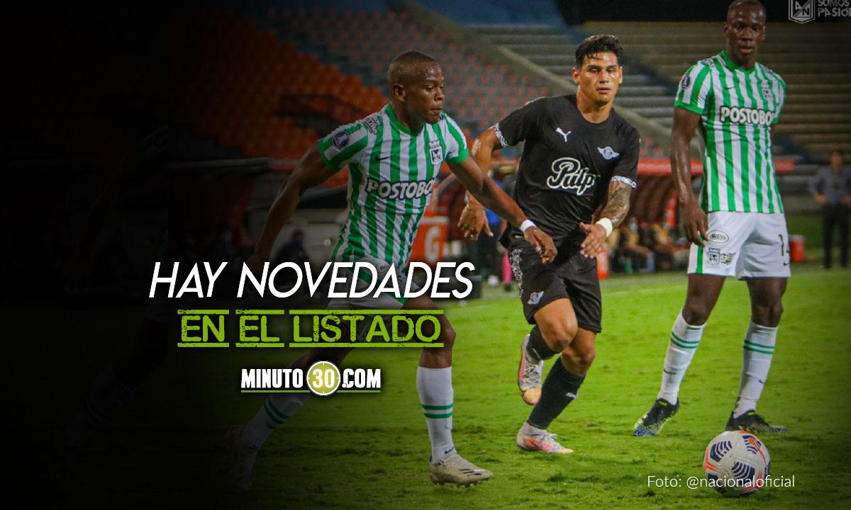 Atletico Nacional inscribio 44 jugadores para fase de grupos de Copa Libertadores