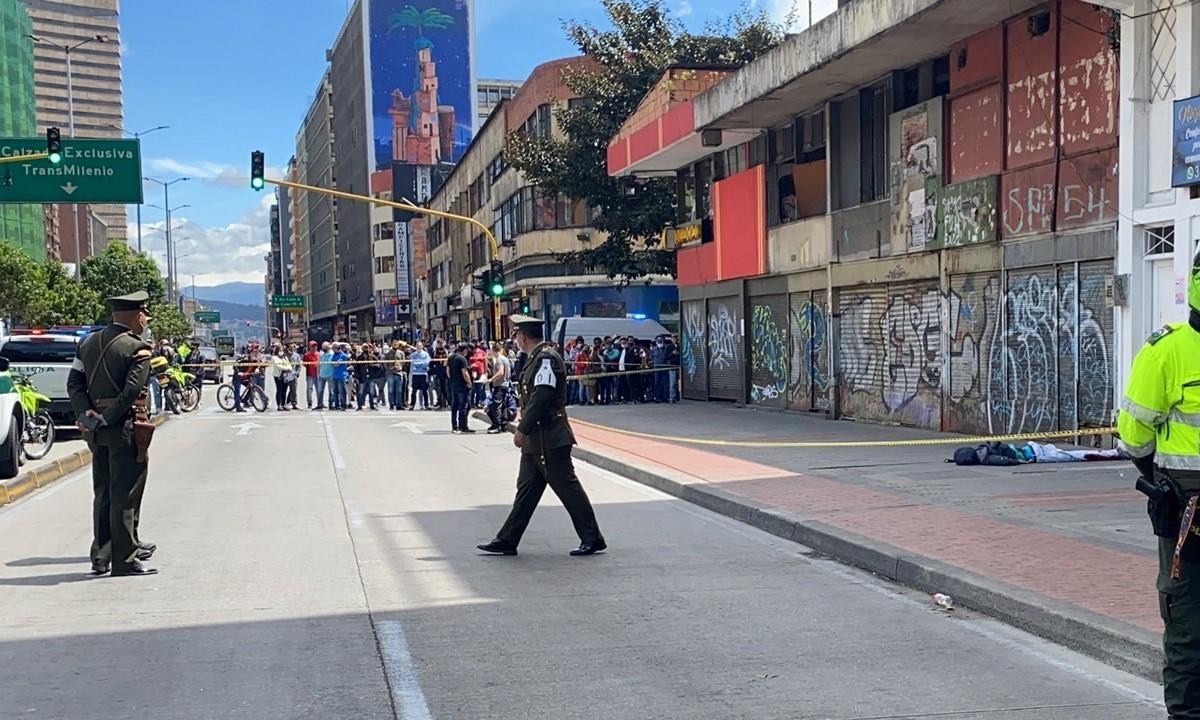 Balacera en el centro de Bogotá
