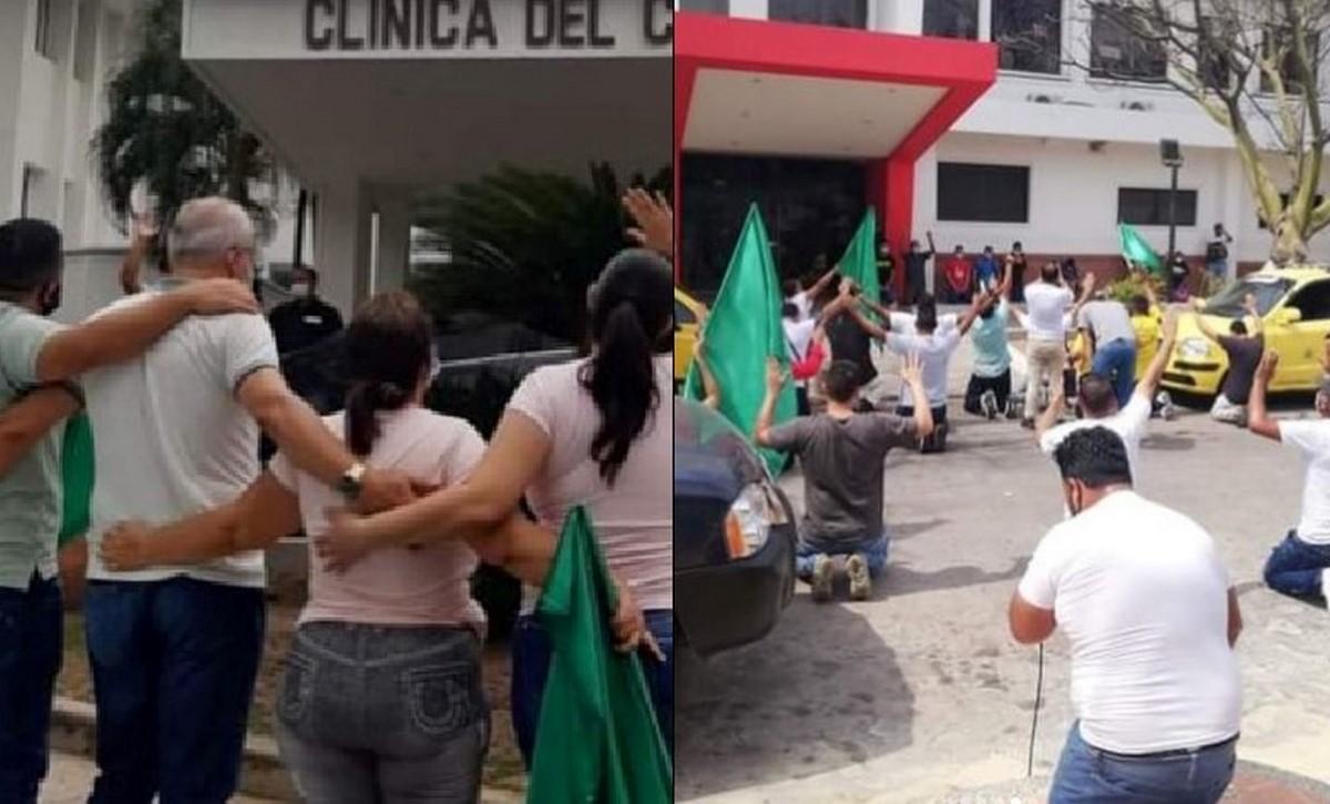 En Barranquilla oran por salud de pacientes covid