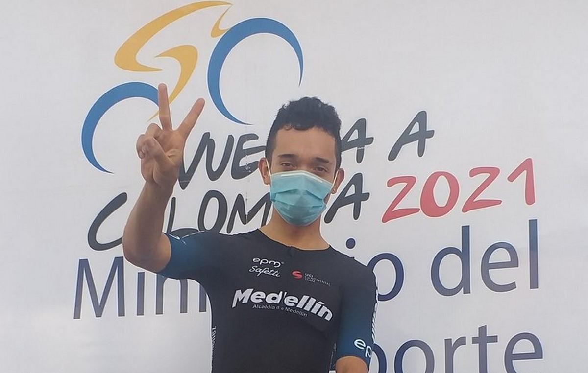 Brayan Sanchez gano sexta etapa de la Vuelta a Colombia