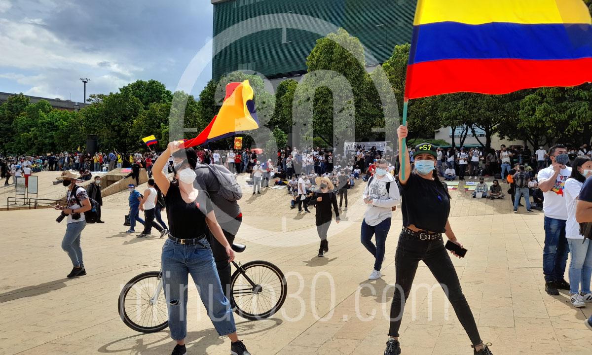 Desde el Parque de los Deseos asi va el Paro Nacional en Medellin 3