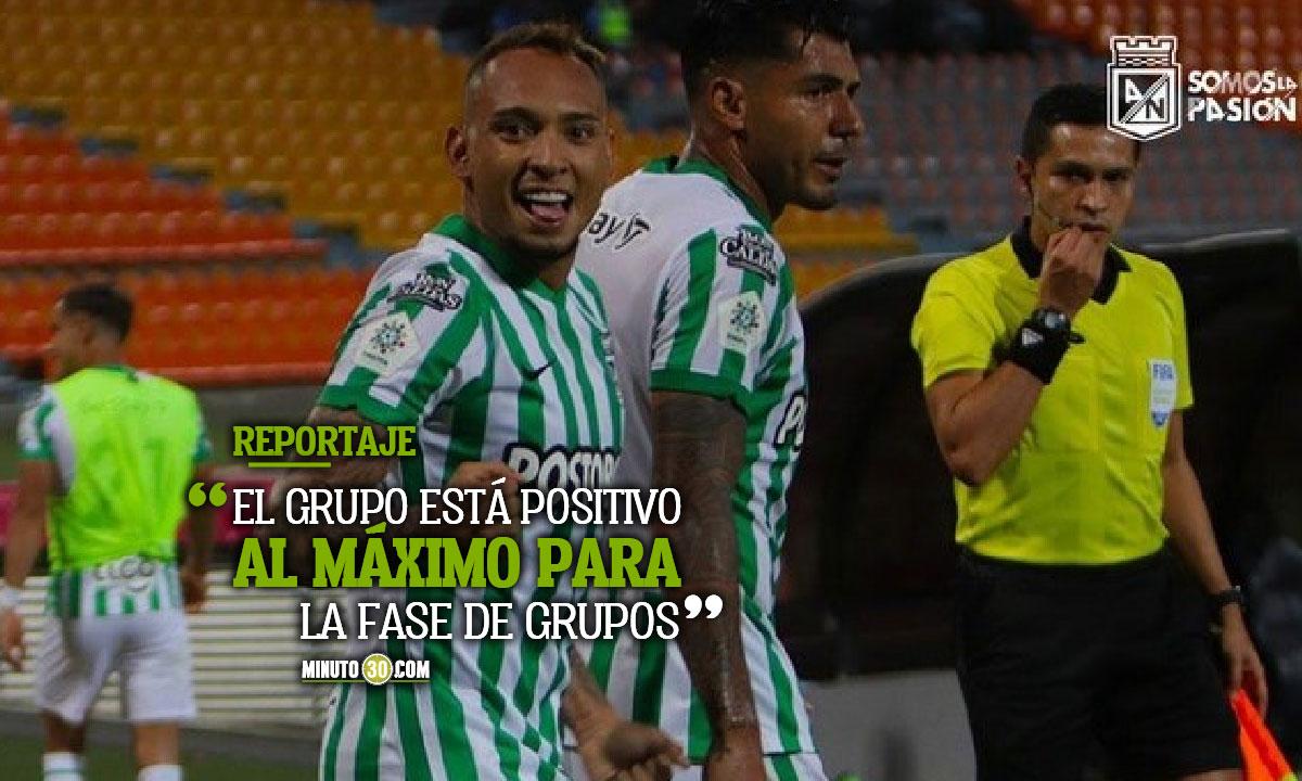 Felicidad total en AtlEtico Nacional de cuenta de participacion en Copa Libertadores
