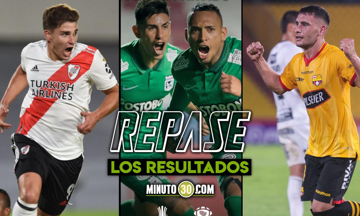 Goles por doquier en la jornada del miercoles de la Copa Libertadores