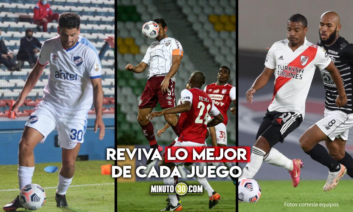 Goles y mejores momentos de partidos de equipos colombianos en Copa Libertadores