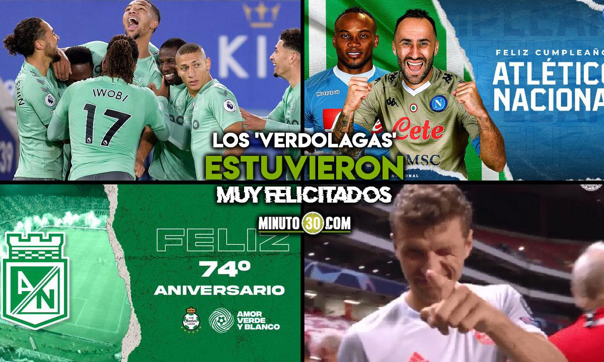 Hasta de Europa llegaron felicitaciones para Atletico Nacional en su aniversario
