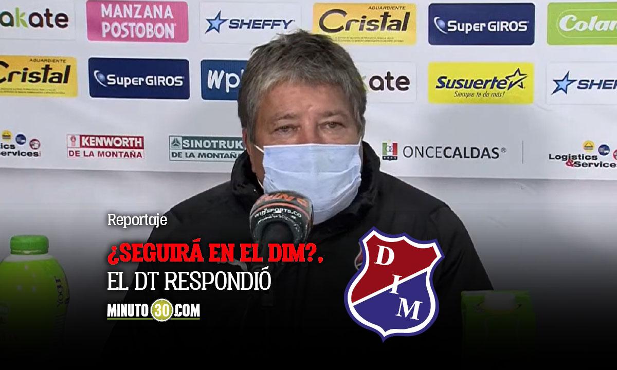 Hernan Dario Gomez entrego balance del primer semestre con Medellin