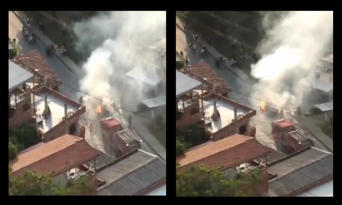 Video: ¡Terrible! Un vehículo se incendió en Bello