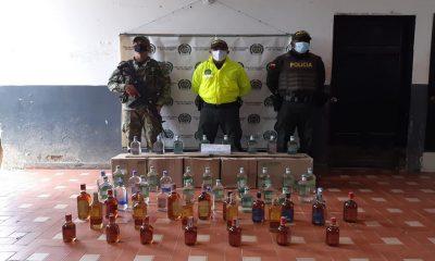 ¿'Chiviao'? Incautaron más de 40 botellas de licor