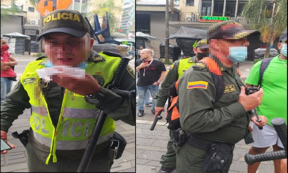 Medellín-policías-agredidos