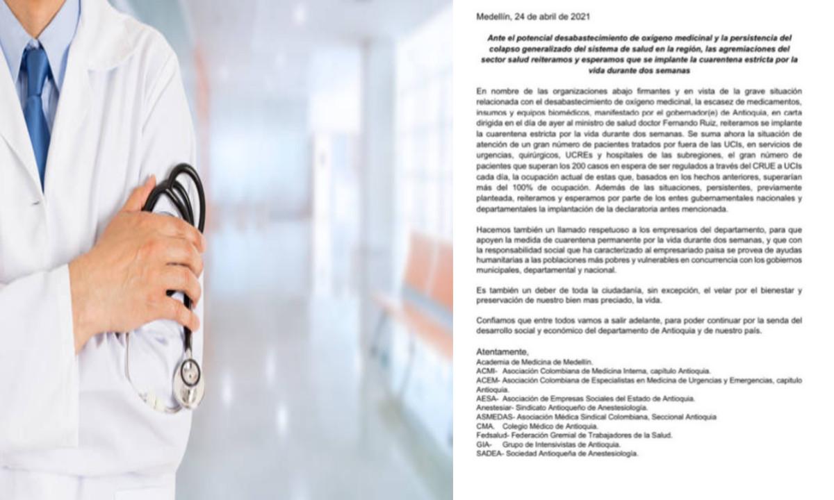 Médicos de Antioquia solicitan implementar 14/14 para reducir contagios de Covid