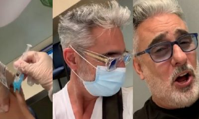 Miguel Varoni vacunado contra el Covid