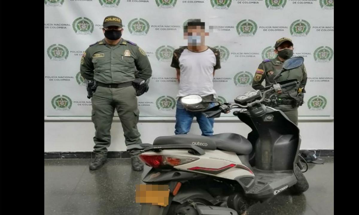 Por andar en una moto robada lo capturó la Policía en Guayabal