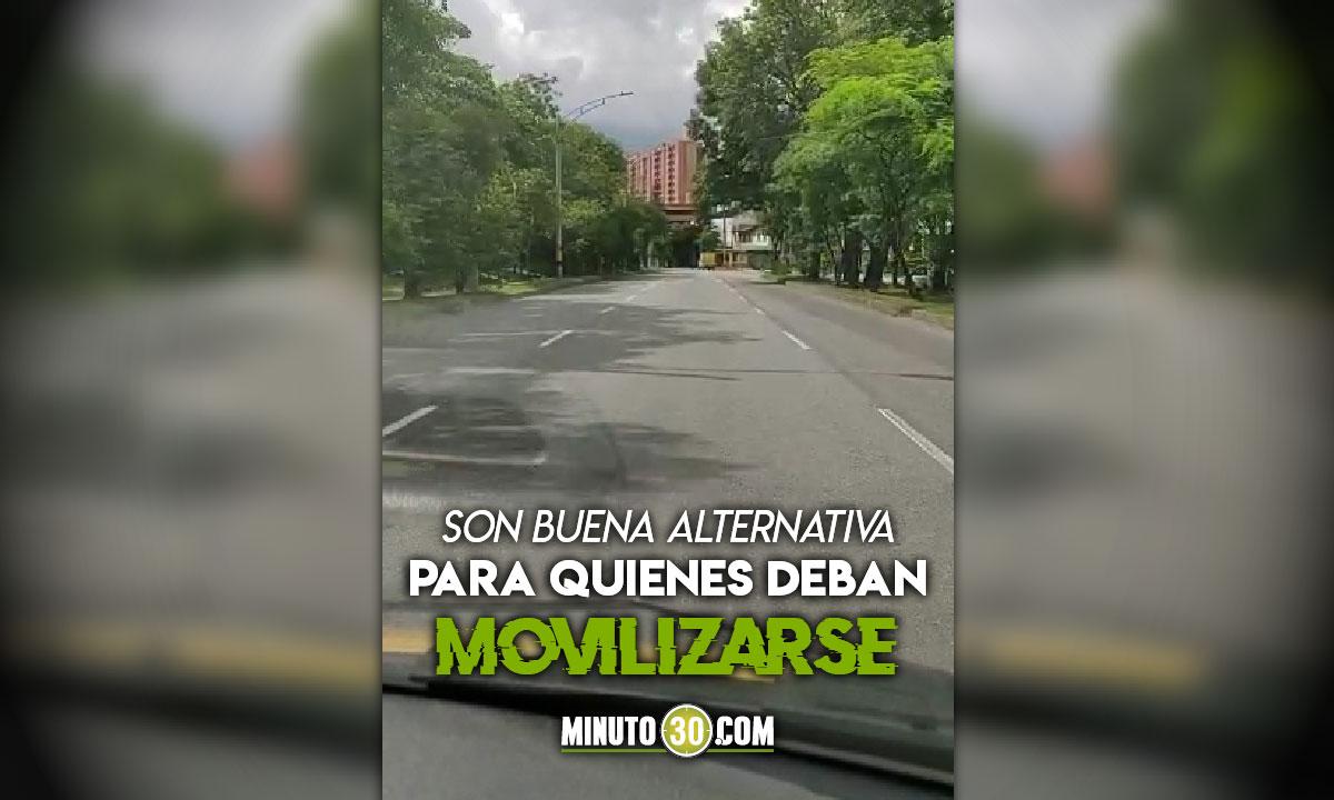 No todo esta congestionado Estas vias de Medellin estan solas
