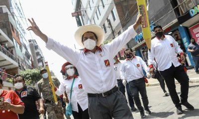 En la imagen, el candidato ultraizquierdista Pedro Castillo. EFE/Aldair Mejía/Archivo