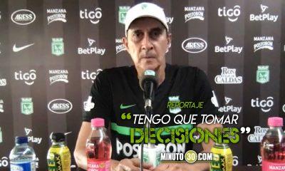 Presentacion de equipo alterno de Nacional puso a pensar a Guimaraes