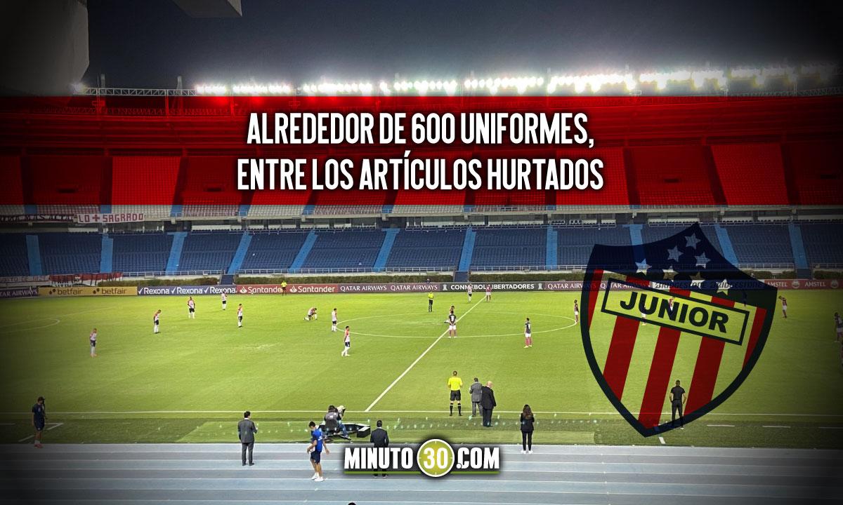 Roban la sede de Atletico Junior en Barranquilla
